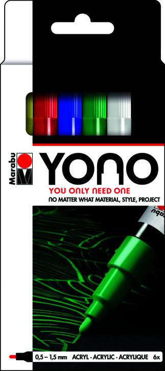 Marabu YONO Marker Set 6 x 0,5-1,5 mm