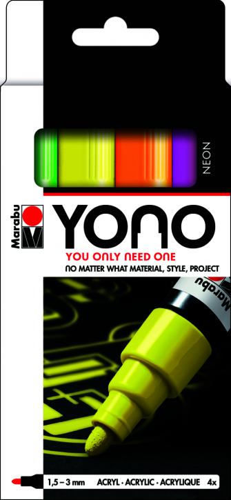 Marabu YONO Marker Set NEON 4 x 1,5-3 mm