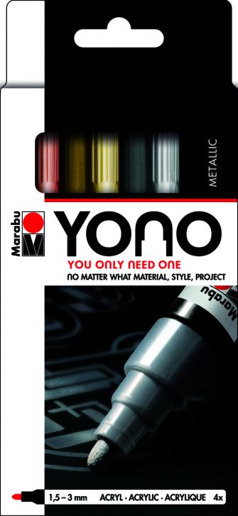 Marabu YONO Marker Set METAL 4 x 1,5-3 mm