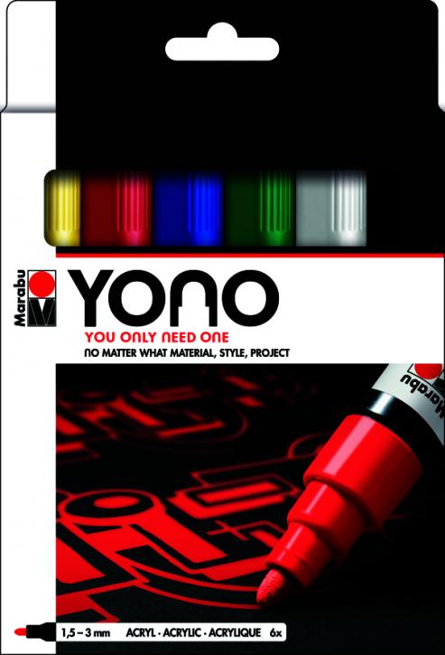 Marabu YONO Marker Set 6 x 1,5-3 mm