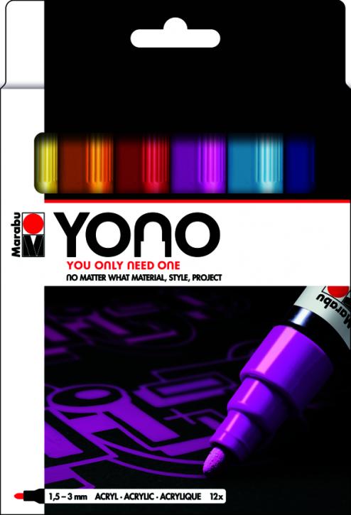 Marabu YONO Marker Set 12 x 1,5-3 mm