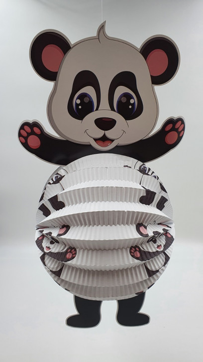 3D Laterne Rund Panda