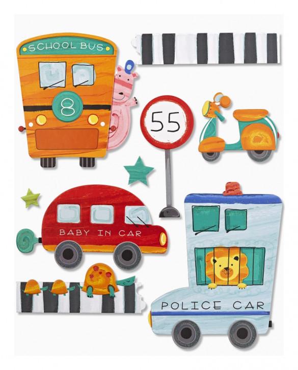 3D Sticker XXL Fahrzeuge