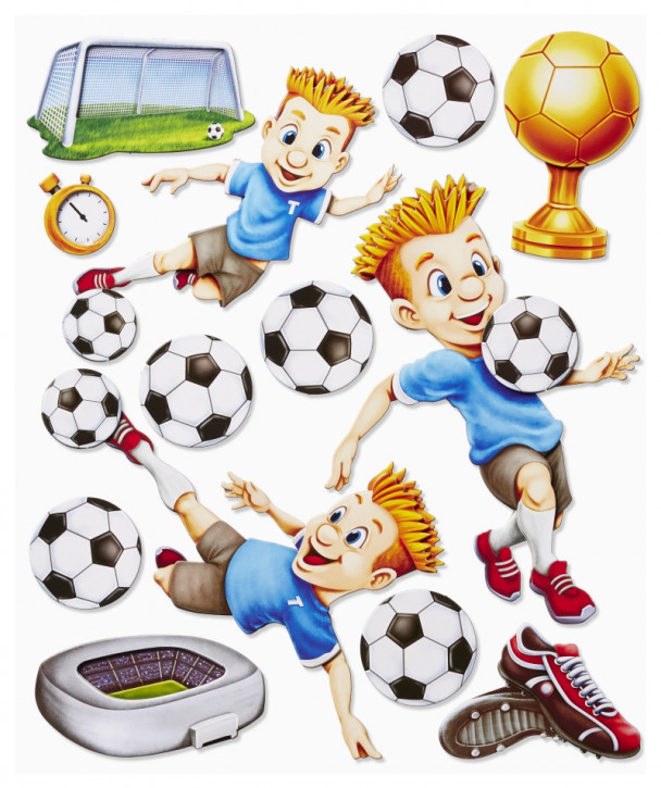 3D Sticker XXL Fußball II