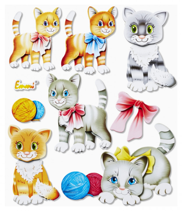 3D Sticker XXL Katzen
