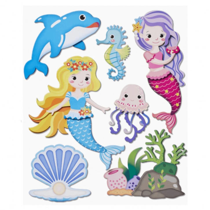 3D Sticker XXL Meerjungfrau