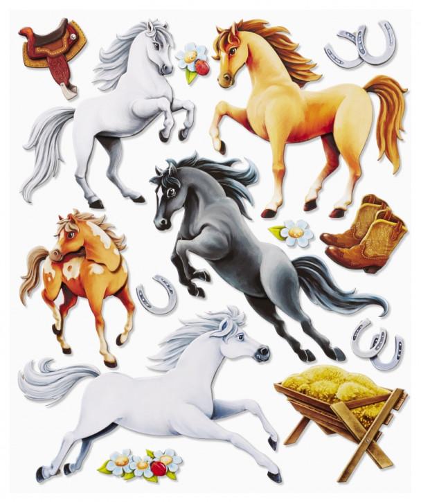 3D Sticker XXL Pferde II