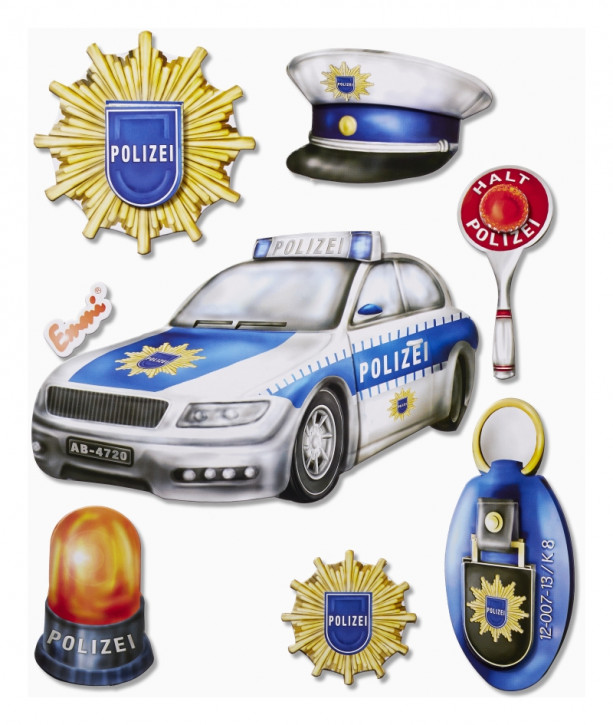 3D Sticker XXL Polizei