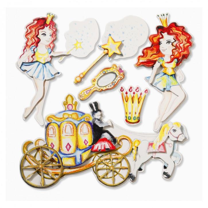 3D Sticker XXL Prinzessin IV