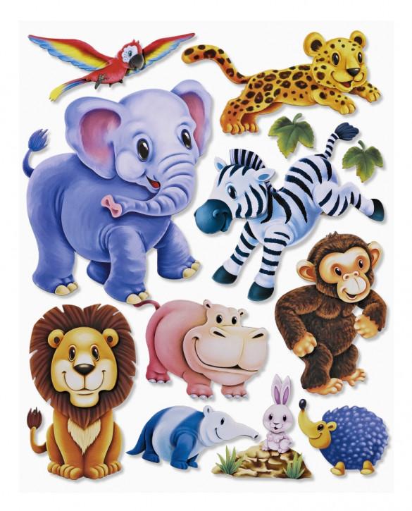 3D Sticker XXL Zootiere