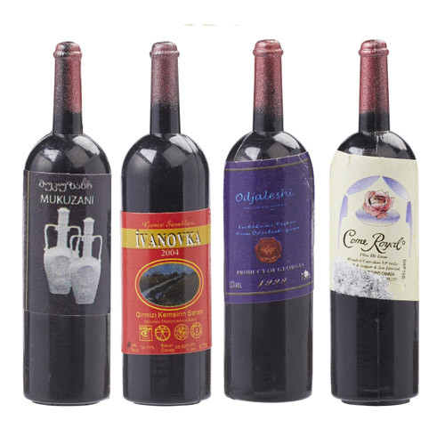 Wein-Flasche ca. 4,5 cm, Btl. 4 Stück
