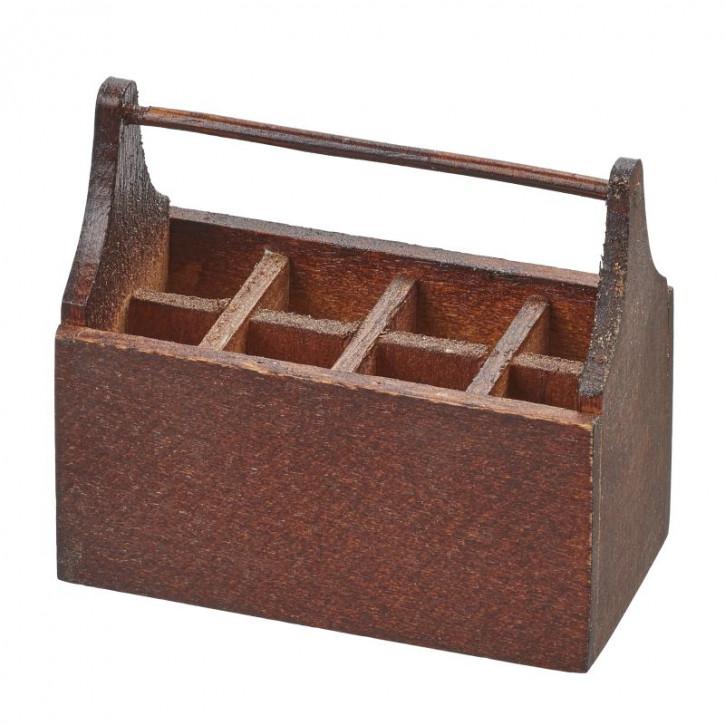 Werkzeugbox 4,6 x 2,4 x 4 cm, braun