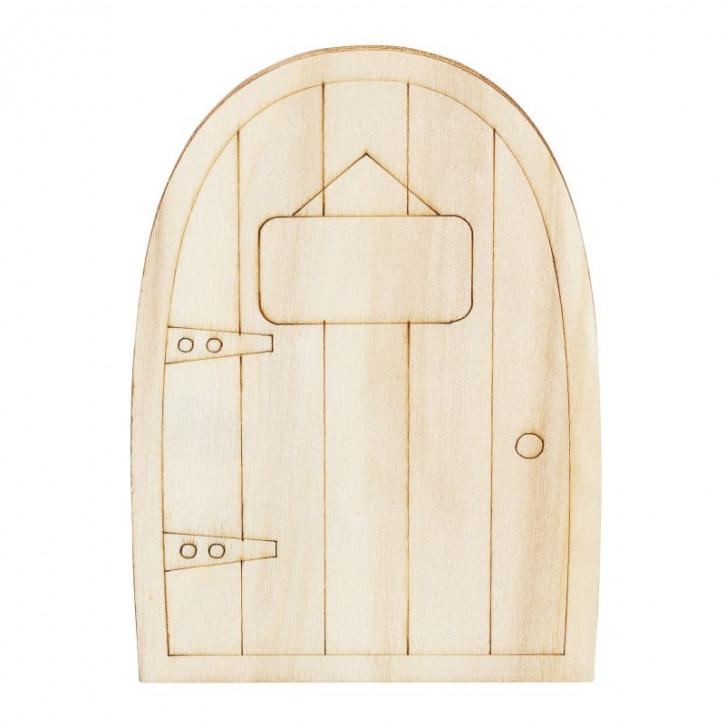 Holztür III 6,5 x 9,5 x 0,3 cm natur