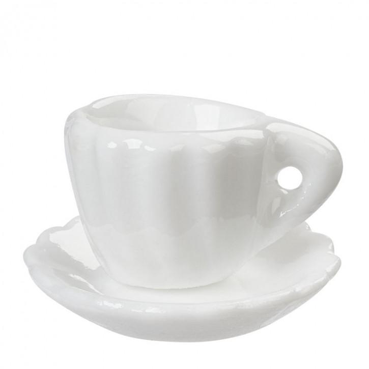 Kaffeetasse, ca.1,8 cm, weiß/Keramik