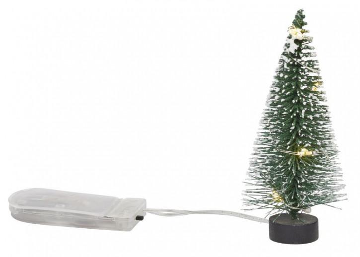 Mini-Tanne grün/weiß, ca. 8 cm, LED Beleuchtet