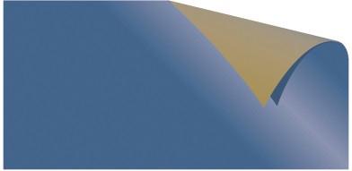 Alu-Doppelfolie blau / gold 50 X 78 cm
