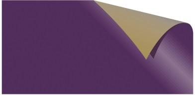 Alu-Doppelfolie violett / gold 50 X 78 cm