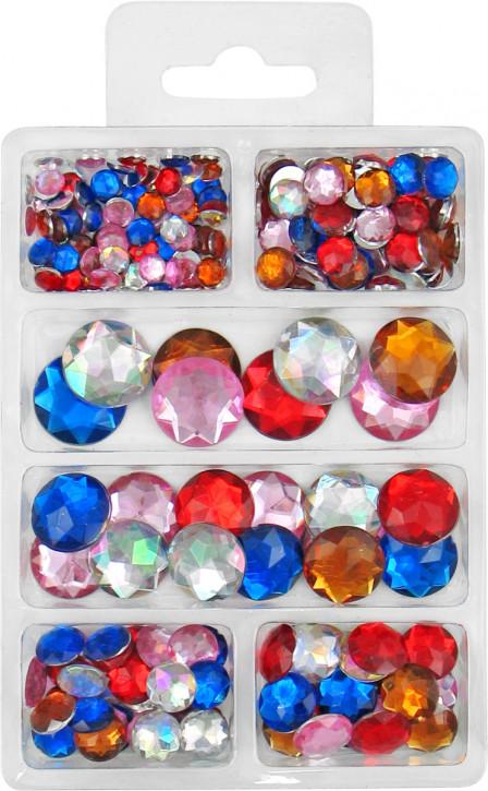 Acryl- Diamanten- Set, bunt sortiert