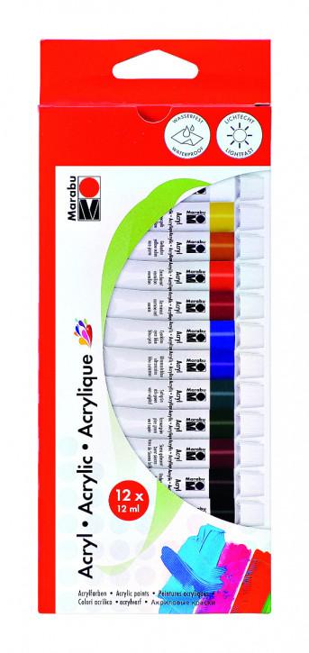 Acrylfarbenset 12 x12ml Marabu