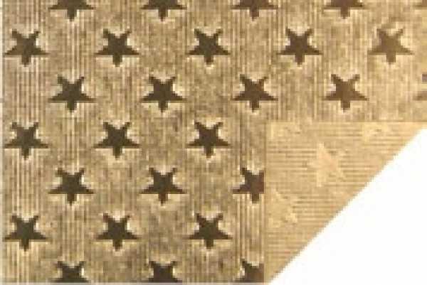 Alu-Doppelfolie Sterne gold / gold 50 X 78 cm