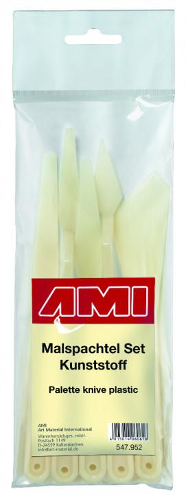 AMI Malspachtel Set 5tlg., Kunststoff