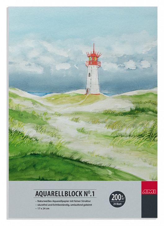 Aquarellblock No.1 200 g/m² 17x24cm 20 Blatt