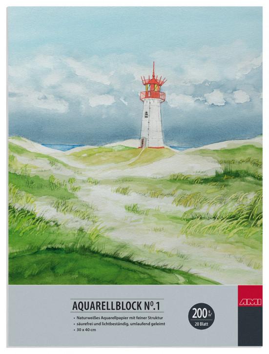 Aquarellblock No.1 200 g/m² 30x40cm 20 Blatt