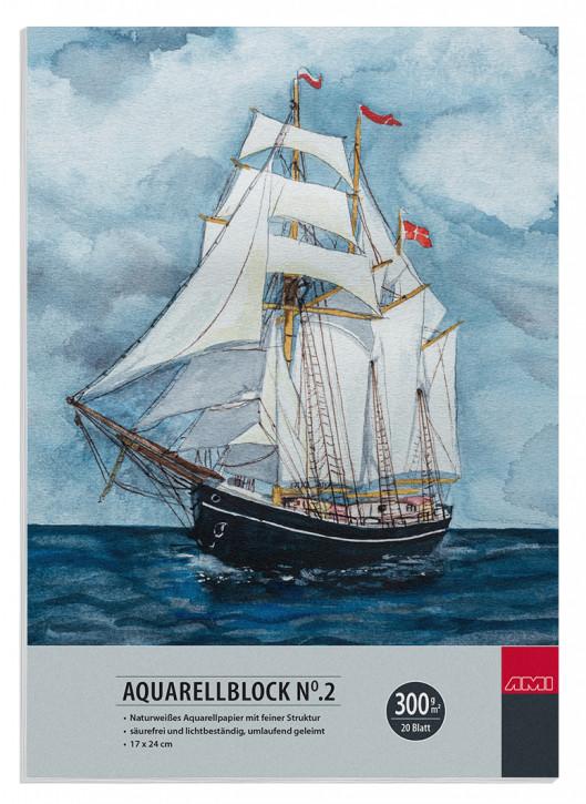 Aquarellblock No.2 300 g/m² 17x24cm 20 Blatt