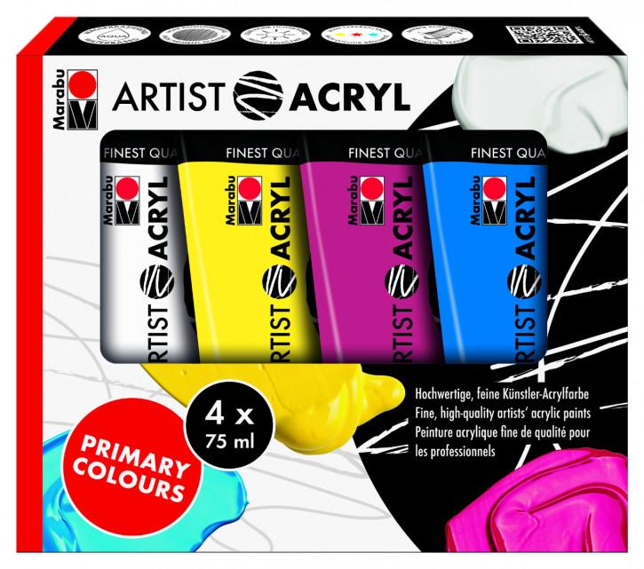 Artist Acryl Set 4x75ml