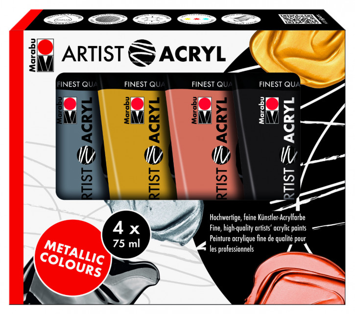 Artist Acryl Set Metallic 4x75ml