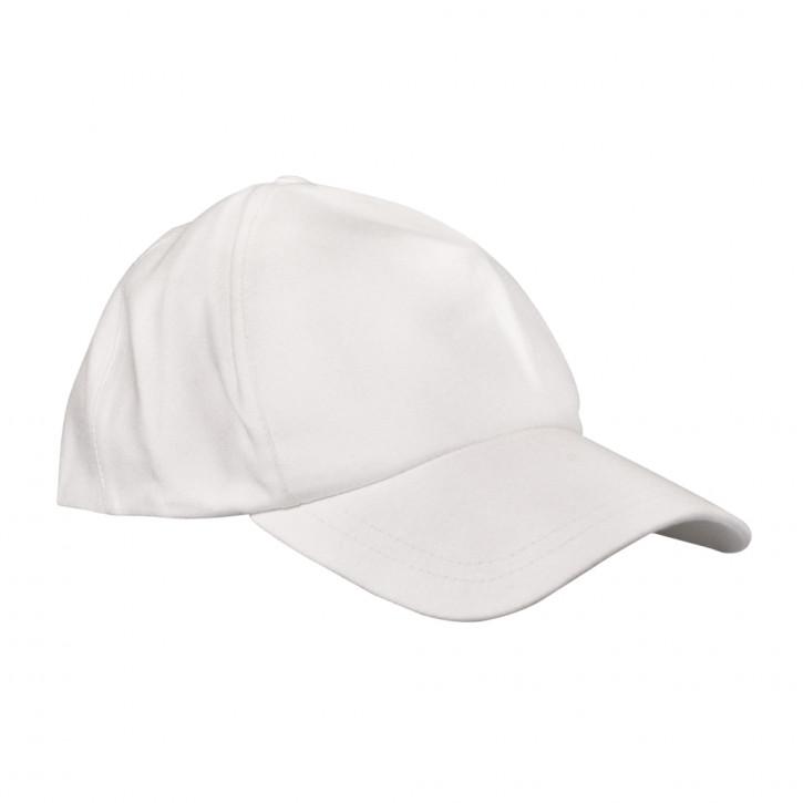 Baseballcap, weiß mit Klettverschluss