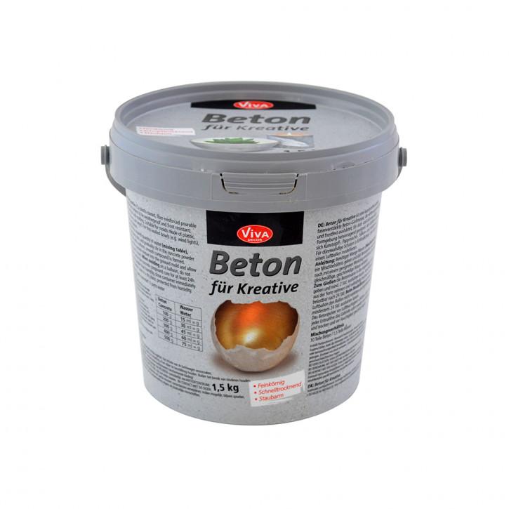 Beton für Kreative Gieß-Beton 1,5 kg Eimer