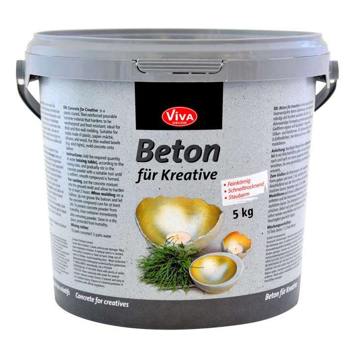 Beton für Kreative Gieß-Beton 5,0 kg Eimer