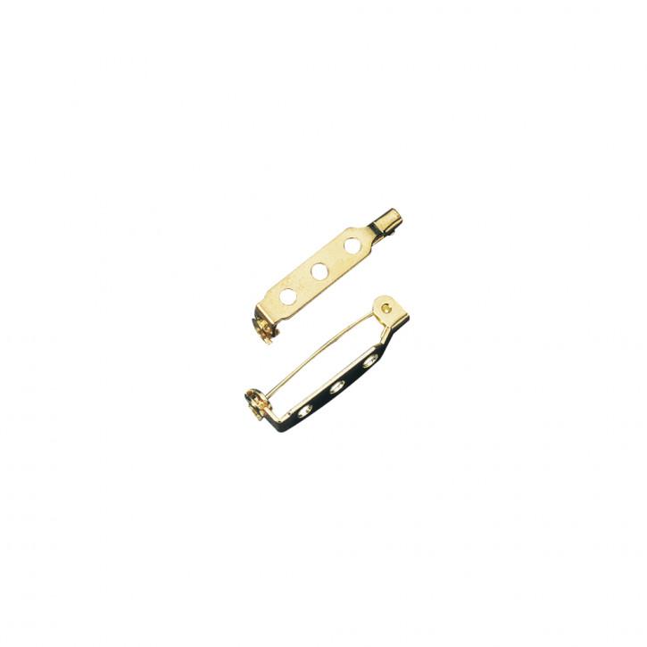 Broschennadel mit Steg und SV gold 20mm, SB-Btl 6Stück