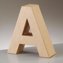 Buchstabe A aus Pappmaché , H 17,5 x B 16,9 x T 5,5 cm