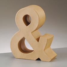 Buchstabe & aus Pappmaché , H 10 x B 8,5 x T 3 cm