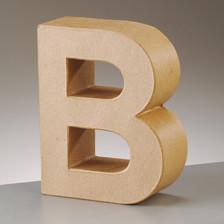 Buchstabe B aus Pappmaché , H 10 x B 7,6 x T 3 cm