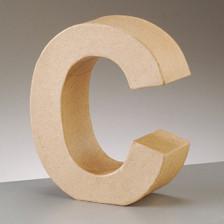 Buchstabe C aus Pappmaché , H 17,5 x B 14,8 x T 5,5 cm