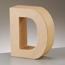 Buchstabe D aus Pappmaché , H 10 x B 8,2 x T 3 cm
