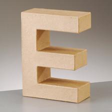 Buchstabe E aus Pappmaché , H 10 x B 7,4 x T 3 cm