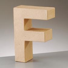 Buchstabe F aus Pappmaché , H 17,5 x B 11,9 x T 5,5 cm