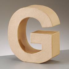Buchstabe G aus Pappmaché , H 10 x B 6,9 x T 3 cm