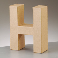 Buchstabe H aus Pappmaché , H 10 x B 8 x T 3 cm