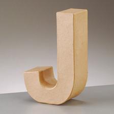 Buchstabe J aus Pappmaché , H 17,5 x B 11,1 x T 5,5 cm