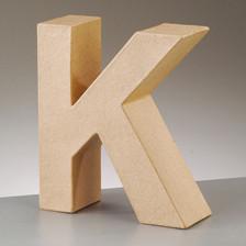 Buchstabe K aus Pappmaché , H 17,5 x B 15,2 x T 5,5 cm