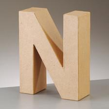 Buchstabe N aus Pappmaché , H 10 x B 7,8 x T 3 cm