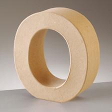 Buchstabe O aus Pappmaché , H 10 x B 9,3 x T 3 cm