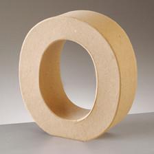 Buchstabe O aus Pappmaché , H 17,5 x B 16,1 x T 5,5 cm
