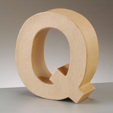 Buchstabe Q aus Pappmaché , H 17,5 x B 13,3 x T 5,5 cm