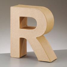 Buchstabe R aus Pappmaché , H 17,5 x B 15 x T 5,5 cm